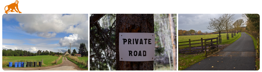 private road insurance banner